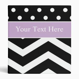 Carpeta púrpura blanca negra del personalizado del