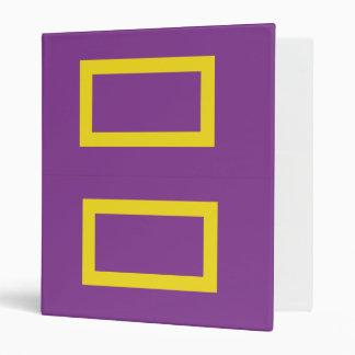Carpeta púrpura de Avery de los derechos