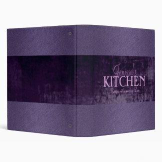 Carpeta púrpura de la receta del reflejo