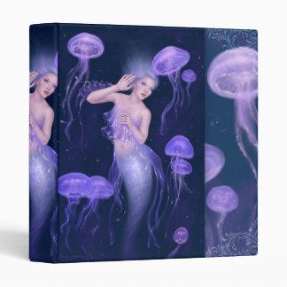 Carpeta púrpura de la sirena de las medusas de la