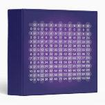 Carpeta púrpura de la tabla de multiplicación