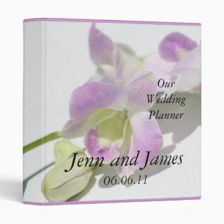 Carpeta púrpura de las orquídeas del planificador