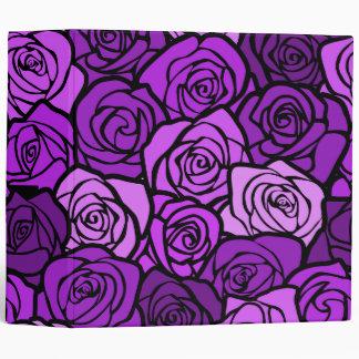 Carpeta púrpura de los rosas del vintage