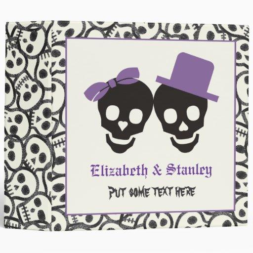 Carpeta púrpura del boda de Halloween de los