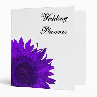 Carpeta púrpura del boda del girasol