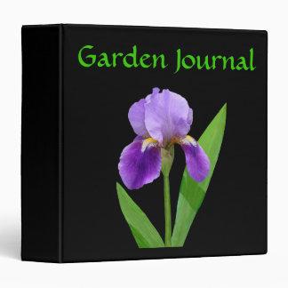 Carpeta púrpura del diario del jardín del iris