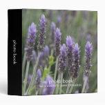 Carpeta púrpura del libro de la foto de Lavendar