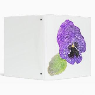 Carpeta púrpura del personalizable del dibujo de