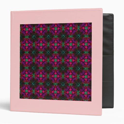 Carpeta - púrpura del verde del rosa del modelo de