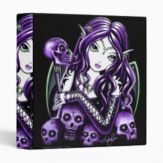 Carpeta púrpura gótica del Faerie del cráneo de la