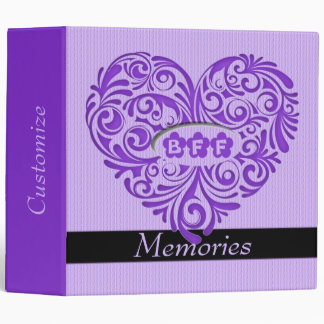 Carpeta púrpura personalizada del recuerdo del