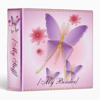 Carpeta púrpura suave de la mariposa