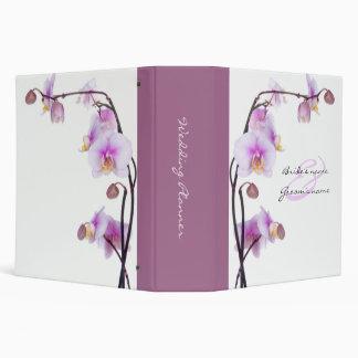 Carpeta púrpura y blanca del planificador del boda