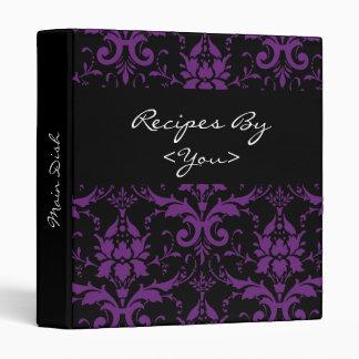 Carpeta púrpura y negra del libro del cocinero de