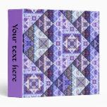 Carpeta radiante púrpura del modelo de la orquídea