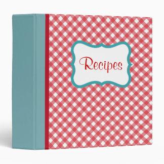 Carpeta retra de la receta del rojo y de la aguama