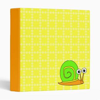 Carpeta retra del caracol - verde amarillo-naranja