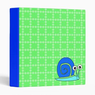 Carpeta retra del caracol - verde y azul
