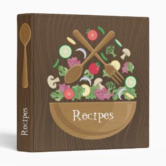 Carpeta retra del libro de cocina del cuenco de en