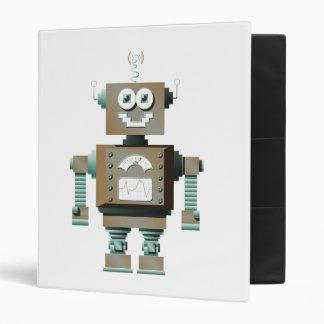 Carpeta retra del robot del juguete