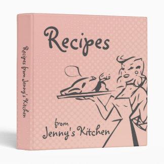 Carpeta retra rosada de la receta