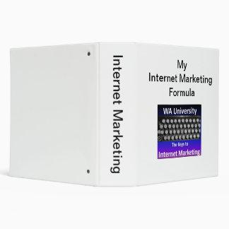 Carpeta rica del márketing del Internet del