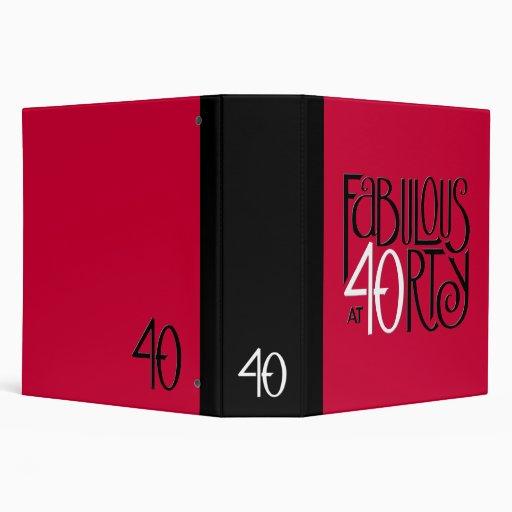 Carpeta roja blanca negra 40 fabulosos
