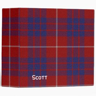 Carpeta roja, blanca, y azul de la tela escocesa d