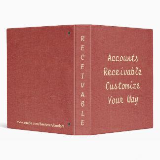 Carpeta roja clásica del cuaderno de las cuentas
