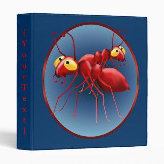 Carpeta roja de Avery de dos hormigas