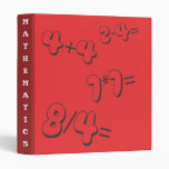 Carpeta roja de Avery de la matemáticas