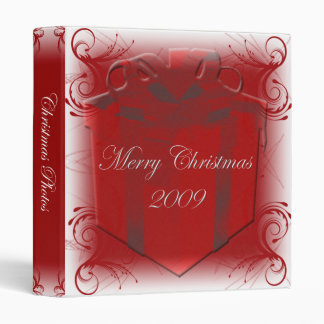 Carpeta roja de la foto del navidad del remolino