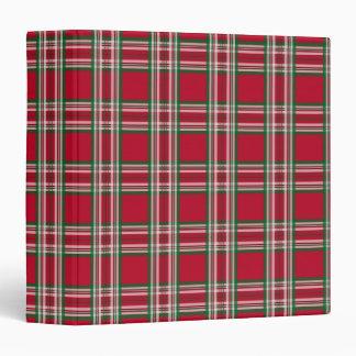 Carpeta roja de la tela escocesa