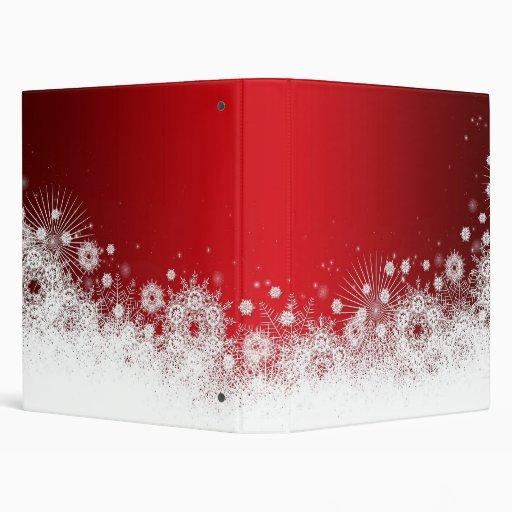 Carpeta roja de lujo del cordón del navidad