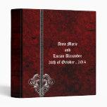 Carpeta roja del álbum del boda del corazón de la