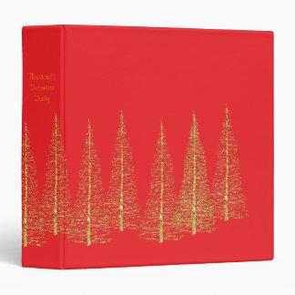 Carpeta roja del álbum del libro de recuerdos del