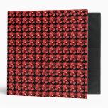 Carpeta roja del estampado de flores
