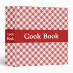 Carpeta roja del libro del cocinero de la guinga
