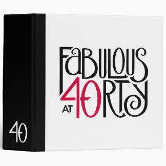 Carpeta roja negra 40 fabulosos