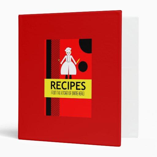 Carpeta roja personalizada de la receta de Martzki