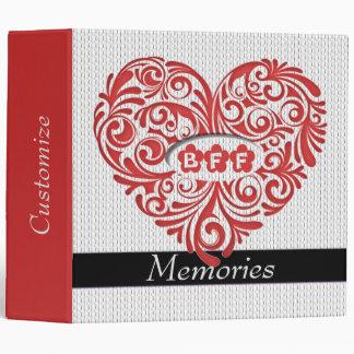 Carpeta roja personalizada del recuerdo del