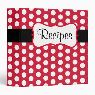 Carpeta roja retra de la receta