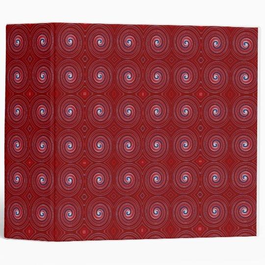 Carpeta roja roja 2,8 de Avery del remolino blanco