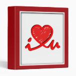 Carpeta roja - ♥ u (corazón de i de i usted)