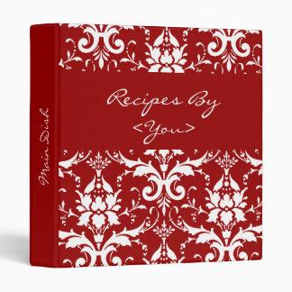 Carpeta roja y blanca del libro del cocinero de la