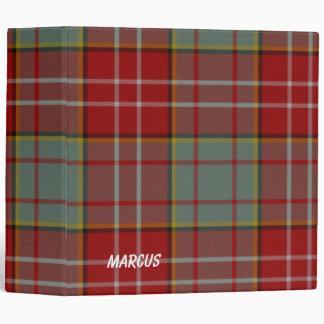 Carpeta roja y gris colorida de la tela escocesa d