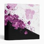 Carpeta romántica del Peony púrpura elegante de lu