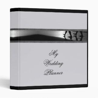 Carpeta romántica del planificador del boda del