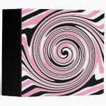 Carpeta rosada, blanco y negro del diseño del remo