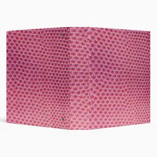 Carpeta rosada de Avery de la imitación de cuero